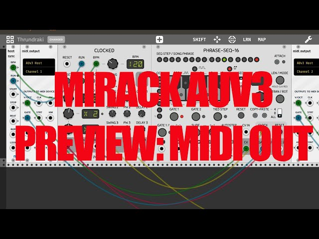 miRack AUv3 - Preview: Midi Out in AUM