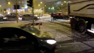viale certosa nevicata semafori in tilt 21 dicembre 2009