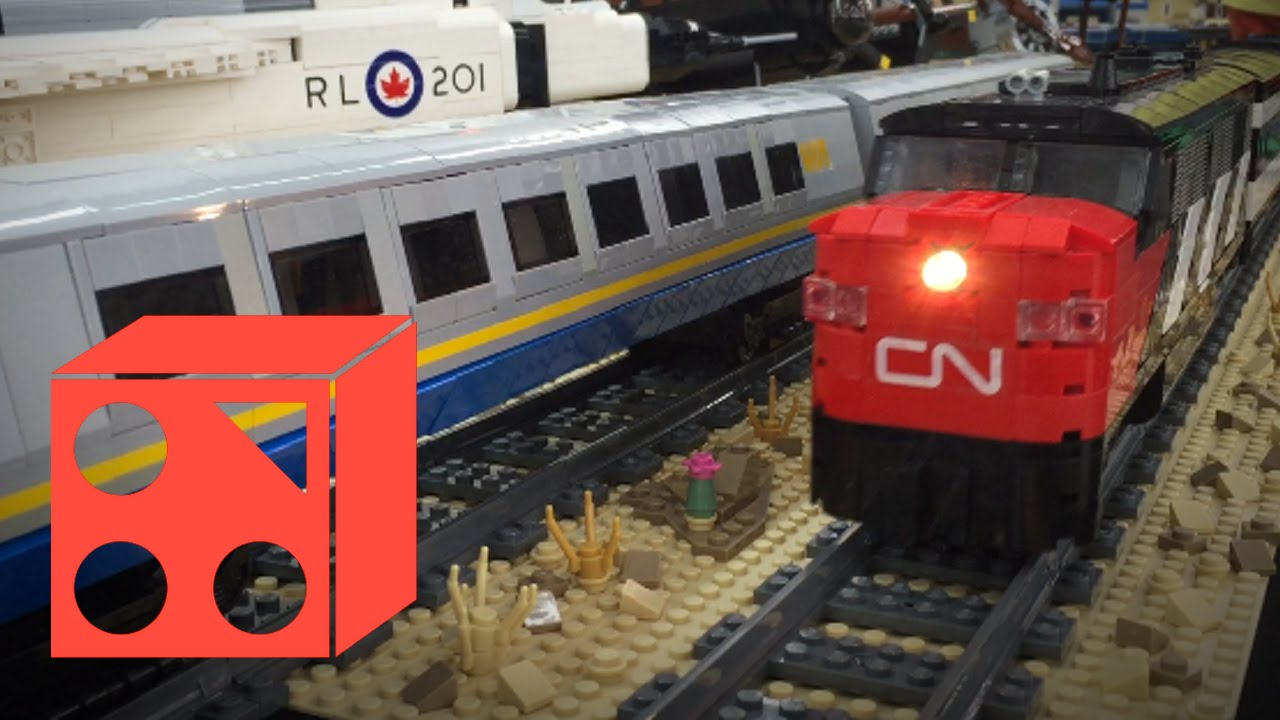 Free Car History Report >> LEGO® Trains at Mont Bleu Ford Hobby Show 2016 - YouTube