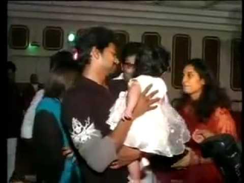 Vijay at Ajith daughter 1st  Birthday Party