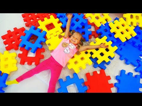Diana Pretend Play with Building Block Toy