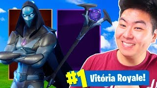 I BOUGHT THE NEW SKIN LEGENDARY PRESSÁGIO AND VENCI!! -Fortnite Battle Royale