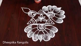 sravana sukravaram muggulu designs * friday lotus kolam * lakshmi pooja rangolis