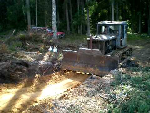 Starting up and work with old bulldozer