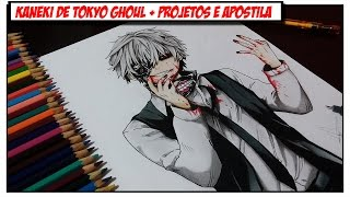 Desenhando Kaneki de Tokyo Ghoul + Novidades Canal (Apostila, Mural e +)