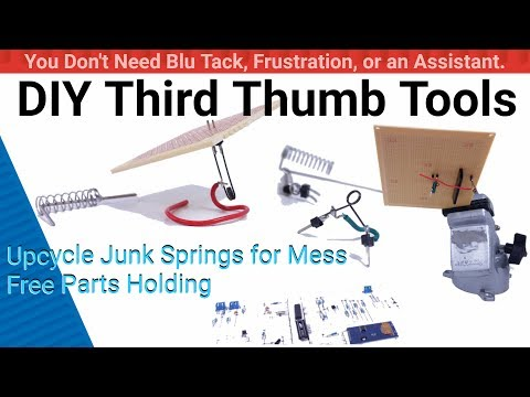 DIY Third Thumb Tools A Tool Hack for Electronics Soldering Parts Holding Mini Helping Hands