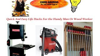 6 DIY Life Hacks that save money for handyman and woodworking