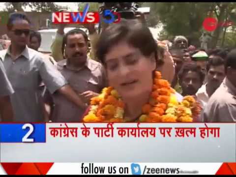 News50: Priyanka Gandhi Vadra to hold roadshow in Lucknow today