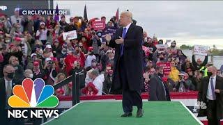 President Trump Makes Weekend Swing Through Battleground States | NBC Nightly News
