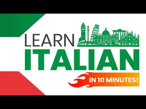 SPEAK ITALIAN IN 10 MINUTES - 9 Strategies to get you speaking Italian NOW