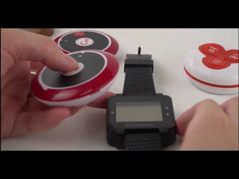 How to add and delete wirless call button on Retekess T128 wrist pager?