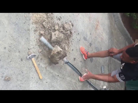 DIY How To Remove Tv Satellite Dish From Ground When You Have No Help!! Company Wont Remove It