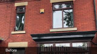 Bespoke UPVC Window Spraying  Colour Change Your UPVC NOW! anthracite grey ral 7016