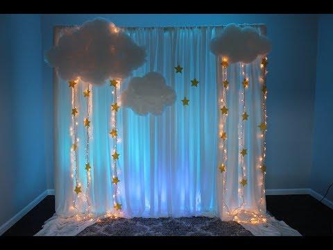 Baby Shower Backdrop DIY Twinkle Twinkle Little Star