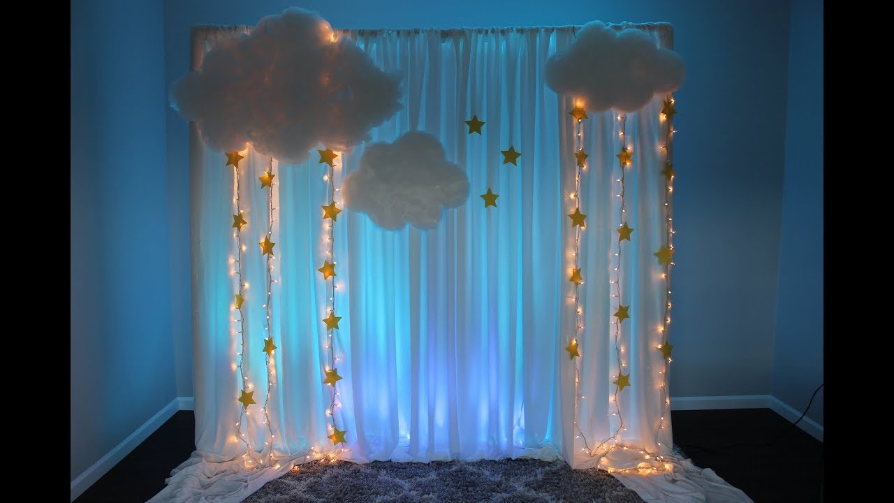 Baby Shower Backdrop Diy Twinkle Twinkle Little Star Youtube