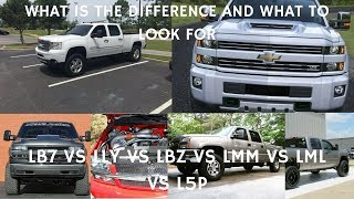 WHAT'S THE DIFFERENCE BETWEEN EACH DURAMAX ENGINE?????