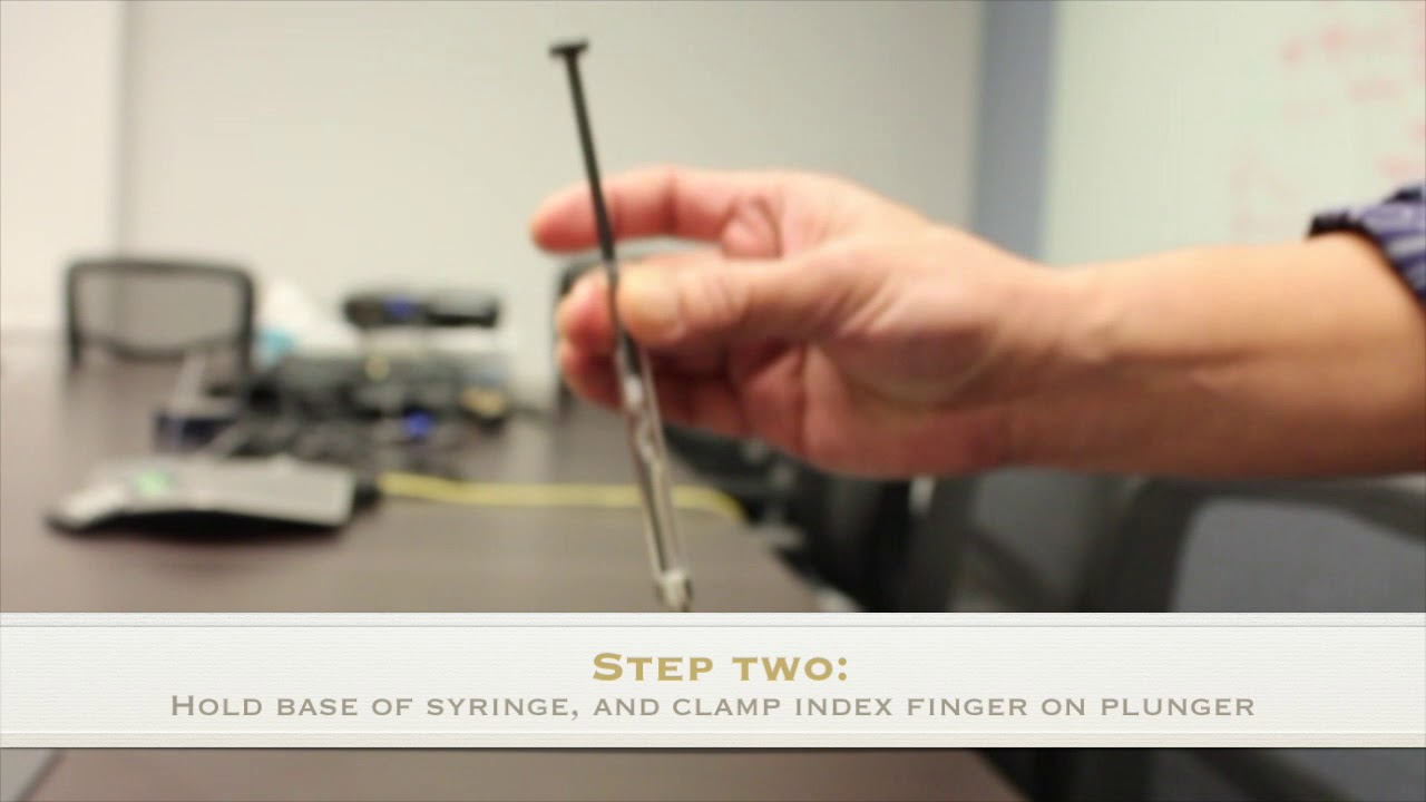 How To Remove Air Bubbles From Syringe
