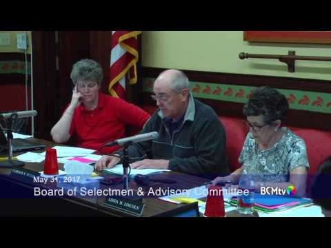 Brookfield Selectmen and Advisory Committee, May 31, 2017