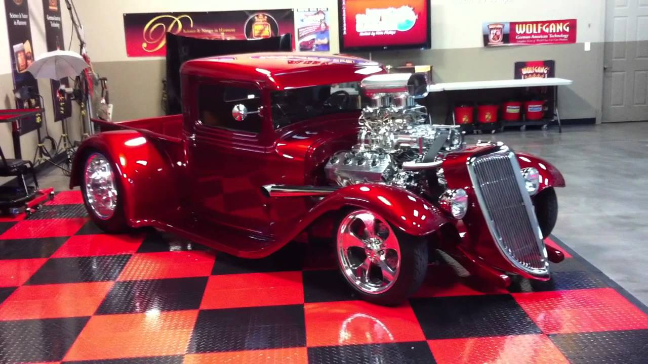 Show Car Finish 1934 Ford Truck with Blown Hemi at ...