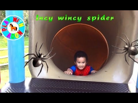 Incy wincy spider Nursery Rhyme | Itsy Bitsy Spider song for kid | Spider man in real life