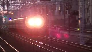 爆走!! JR垂水駅を通過する客車列車!!!