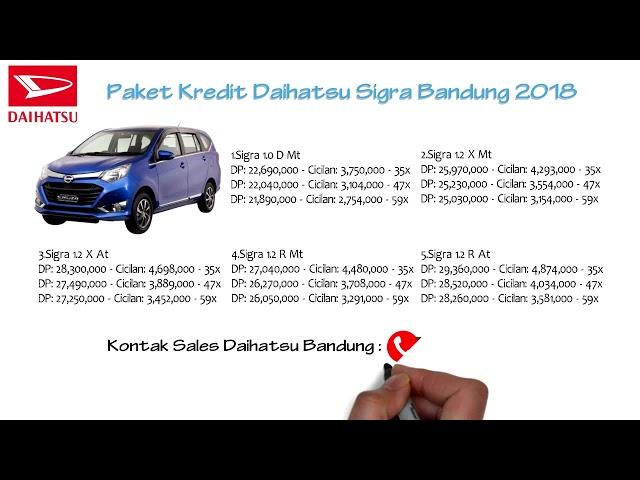 Kredit Daihatsu Sigra Bandung DP dan Cicilan Oktober 2018 | 082127725181