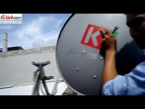 Hướng dẫn tháo lắp chảo thu K+ tránh bão