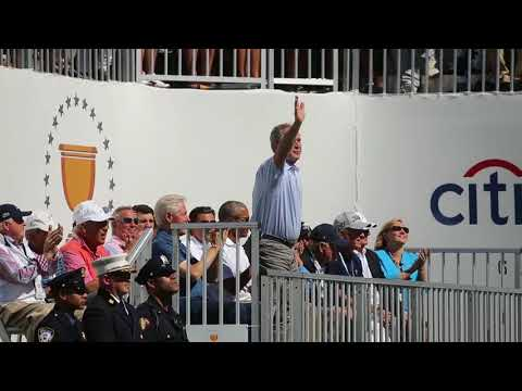 Former presidents Clinton, Bush and Obama attend Presidents Cup