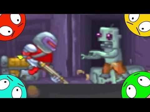 🐾 Охотник на Зомби. Игра мультик для детей.  Зачистка планеты #1 Прохождение зомботрон 1