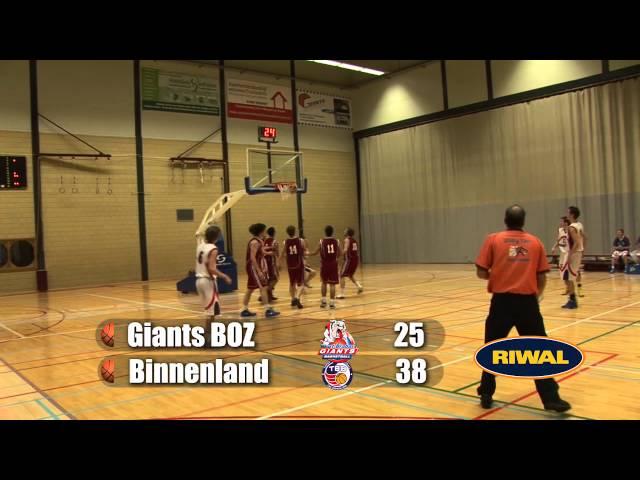 Giants BOZ U20 vs Binnenland U20