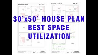 30x50 House Plan | North Facing | 2 Story | G+1 | Visual Maker