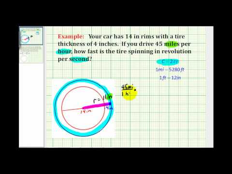 Example:  Determine the Number of Revolutions Per Second of a Car Tire