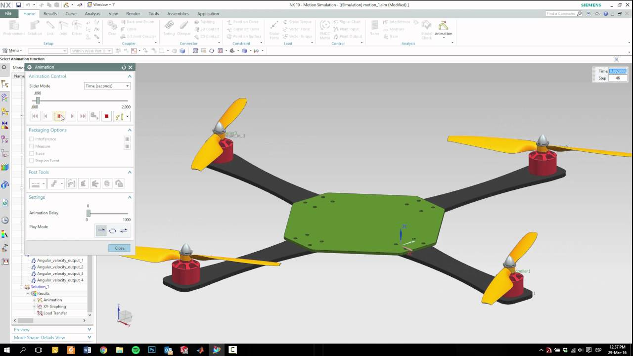 Matlab Simulink NX Cosimulation Drone Quadcopter Parte II