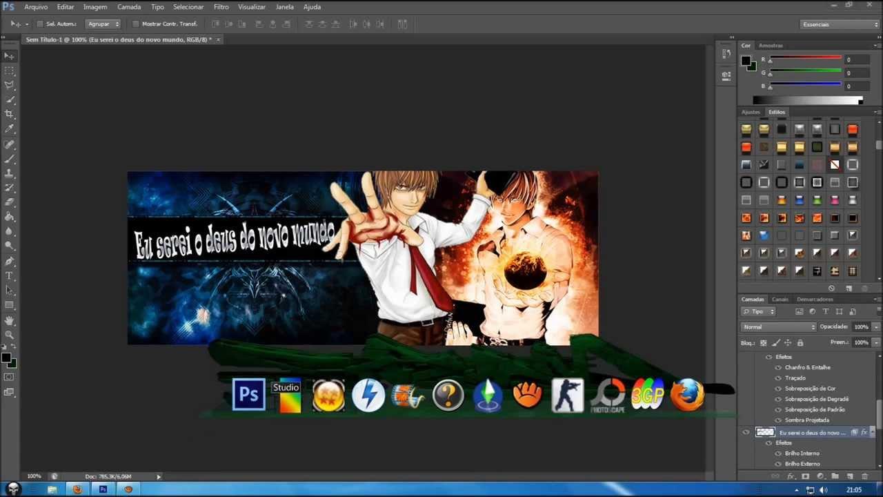 Capa responsiva para Facebook com o Photoshop - Tutoriais de Photoshop