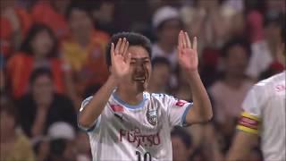 相手陣内での細かいパス交換からゴール前に侵入した大島 僚太(川崎F)...
