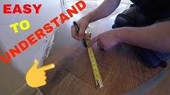 HOW TO MEASURE AND CUT ANGLES ON VINYL PLANK FLOORING INSTALLATION