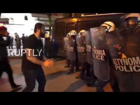 Greece: Armenia Genocide protesters scuffle with Thessaloniki police