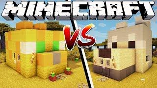 OCELOT HOUSE VS WOLF HOUSE - Minecraft