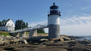 Real Forrest Gump Lighthouse. Marshall Point Lighthouse in Port Clyde Maine.