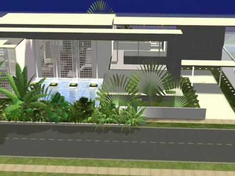modern Luxury Beach house V-Design The Sims 2 - YouTube