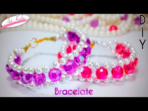 How to make bracelets with beads | Easy Tutorial | Artkala 139