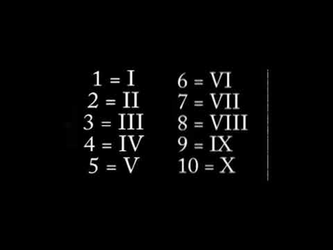 Roman Numeral song