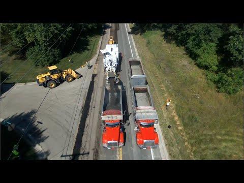 Re-Paving Brighton Road In Genoa Township, Michigan (Part 1) The Prep Work