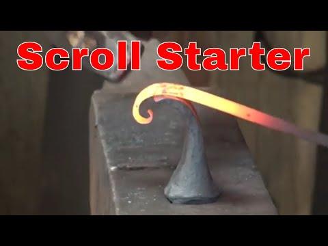 Scroll starter for forging scrolls - blacksmithing tools