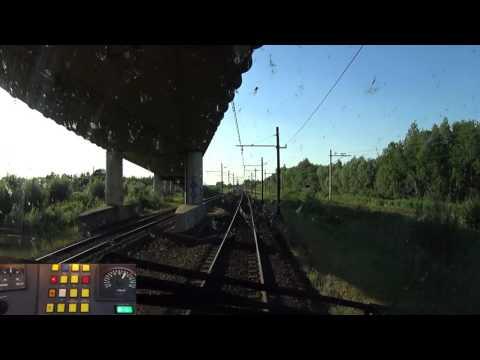 A train driver's view: Eindhoven - Amsterdam CS, VIRM, 10-Jun-2017.