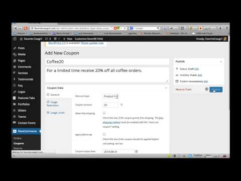 How to Add a Coupon Code in Wordpress