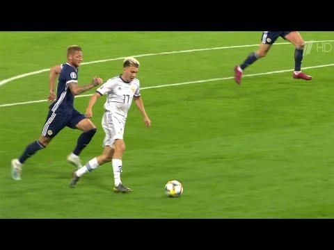 Российская сборная одержала победу над командой Шотландии в отборочном матче Евро-2020.