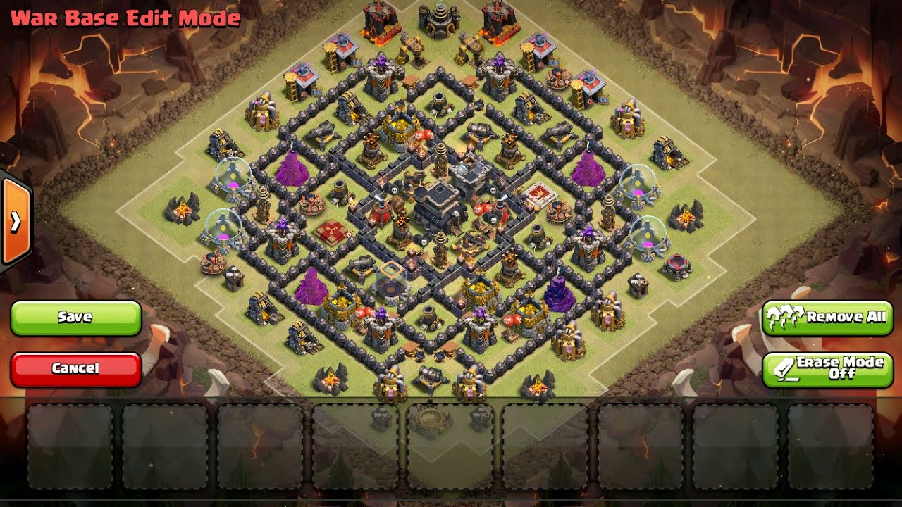 Best town hall 9 war base ever oct 2015 youtube