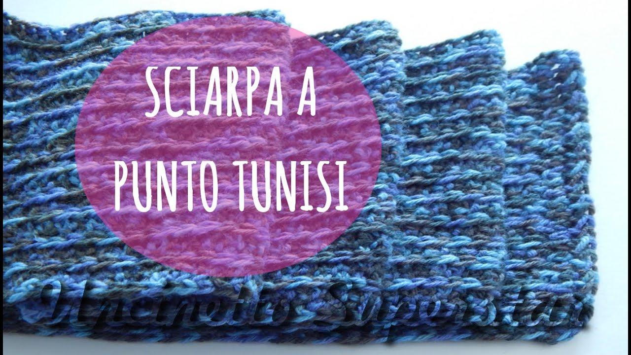 Tutorial Sciarpa Uncinetto Punto A Coste Tunisino Tunisian Crochet