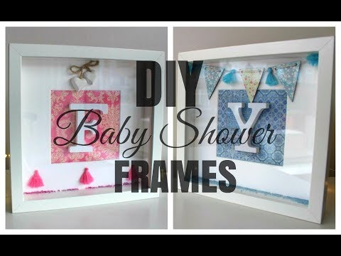 IKEA HACK | DIY Ribba Initial Frame Baby Shower Gift